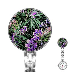 Garden Greens Stainless Steel Nurses Watch