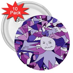 Fms Confusion 3  Button (10 pack)