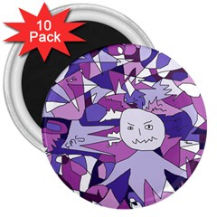Fms Confusion 3  Button Magnet (10 pack)