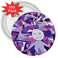 Fms Confusion 3  Button (100 pack)