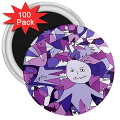 Fms Confusion 3  Button Magnet (100 pack)