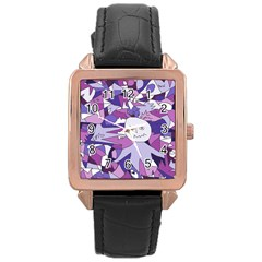 Fms Confusion Rose Gold Leather Watch