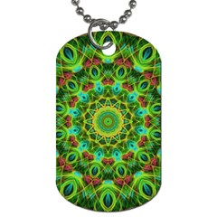 Peacock Feathers Mandala Dog Tag (two Sided)