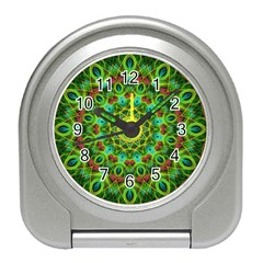 Peacock Feathers Mandala Desk Alarm Clock