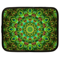 Peacock Feathers Mandala Netbook Sleeve (Large)