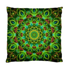 Peacock Feathers Mandala Cushion Case (single Sided)
