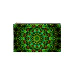 Peacock Feathers Mandala Cosmetic Bag (Small) Front
