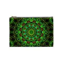 Peacock Feathers Mandala Cosmetic Bag (Medium)