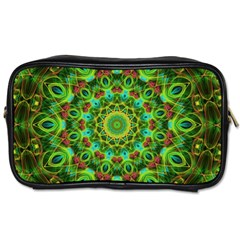 Peacock Feathers Mandala Travel Toiletry Bag (One Side)