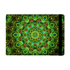Peacock Feathers Mandala Apple iPad Mini Flip Case