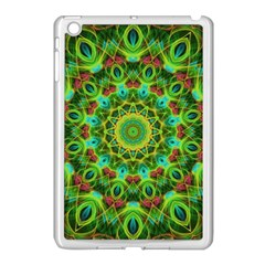 Peacock Feathers Mandala Apple Ipad Mini Case (white)