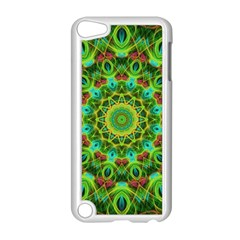 Peacock Feathers Mandala Apple iPod Touch 5 Case (White)