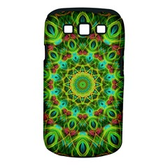 Peacock Feathers Mandala Samsung Galaxy S III Classic Hardshell Case (PC+Silicone)