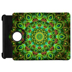 Peacock Feathers Mandala Kindle Fire Hd 7  (1st Gen) Flip 360 Case