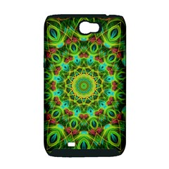 Peacock Feathers Mandala Samsung Galaxy Note 2 Hardshell Case (PC+Silicone)