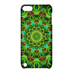 Peacock Feathers Mandala Apple Ipod Touch 5 Hardshell Case With Stand