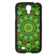 Peacock Feathers Mandala Samsung Galaxy S4 I9500/ I9505 Case (Black)