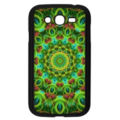 Peacock Feathers Mandala Samsung Galaxy Grand DUOS I9082 Case (Black)