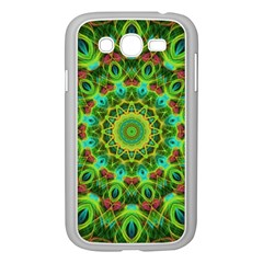 Peacock Feathers Mandala Samsung Galaxy Grand DUOS I9082 Case (White)
