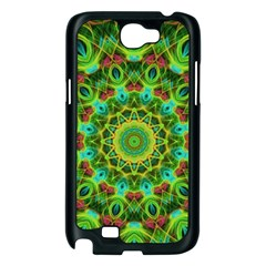 Peacock Feathers Mandala Samsung Galaxy Note 2 Case (Black)