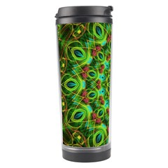Peacock Feathers Mandala Travel Tumbler