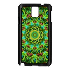 Peacock Feathers Mandala Samsung Galaxy Note 3 N9005 Case (Black)