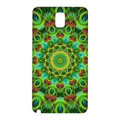 Peacock Feathers Mandala Samsung Galaxy Note 3 N9005 Hardshell Back Case
