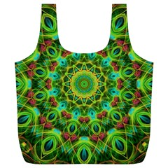 Peacock Feathers Mandala Reusable Bag (XL)