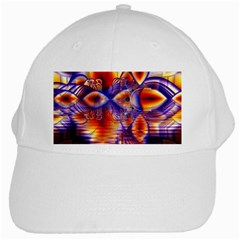 Winter Crystal Palace, Abstract Cosmic Dream White Cap