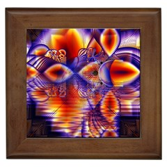 Winter Crystal Palace, Abstract Cosmic Dream Framed Tile