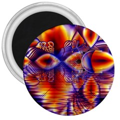 Winter Crystal Palace, Abstract Cosmic Dream 3  Magnet