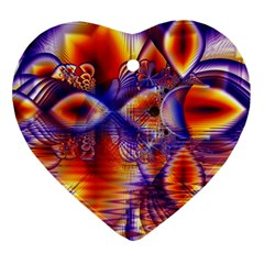 Winter Crystal Palace, Abstract Cosmic Dream Ornament (heart)