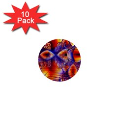 Winter Crystal Palace, Abstract Cosmic Dream 1  Mini Button (10 pack)