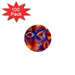 Winter Crystal Palace, Abstract Cosmic Dream 1  Mini Button (100 pack)