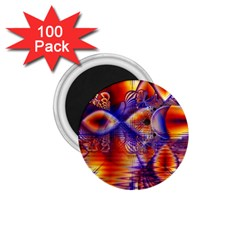 Winter Crystal Palace, Abstract Cosmic Dream 1.75  Magnet (100 pack)