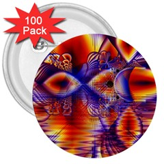 Winter Crystal Palace, Abstract Cosmic Dream 3  Button (100 Pack)
