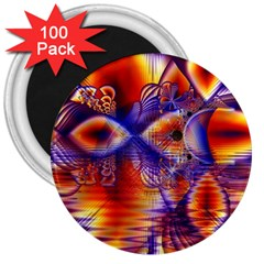 Winter Crystal Palace, Abstract Cosmic Dream 3  Magnet (100 pack)