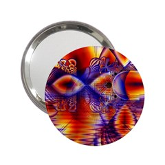 Winter Crystal Palace, Abstract Cosmic Dream 2.25  Handbag Mirror