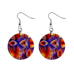 Winter Crystal Palace, Abstract Cosmic Dream 1  Button Earrings