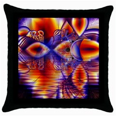 Winter Crystal Palace, Abstract Cosmic Dream Throw Pillow Case (Black)