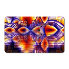 Winter Crystal Palace, Abstract Cosmic Dream Magnet (Rectangular)