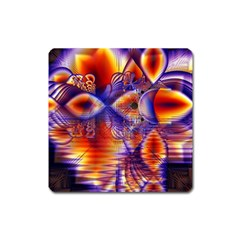 Winter Crystal Palace, Abstract Cosmic Dream Magnet (Square)