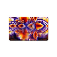Winter Crystal Palace, Abstract Cosmic Dream Magnet (name Card)