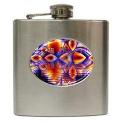 Winter Crystal Palace, Abstract Cosmic Dream Hip Flask (6 oz)