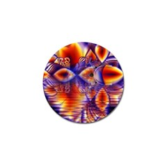 Winter Crystal Palace, Abstract Cosmic Dream Golf Ball Marker (4 pack)