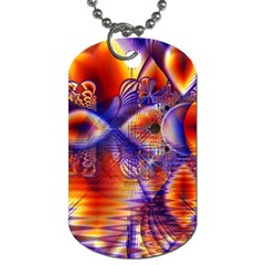 Winter Crystal Palace, Abstract Cosmic Dream Dog Tag (Two Sides)