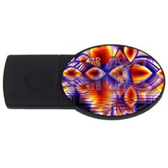 Winter Crystal Palace, Abstract Cosmic Dream USB Flash Drive Oval (1 GB)