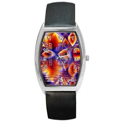 Winter Crystal Palace, Abstract Cosmic Dream Barrel Style Metal Watch
