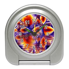 Winter Crystal Palace, Abstract Cosmic Dream Travel Alarm Clock