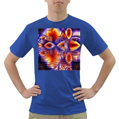 Winter Crystal Palace, Abstract Cosmic Dream Dark T-Shirt